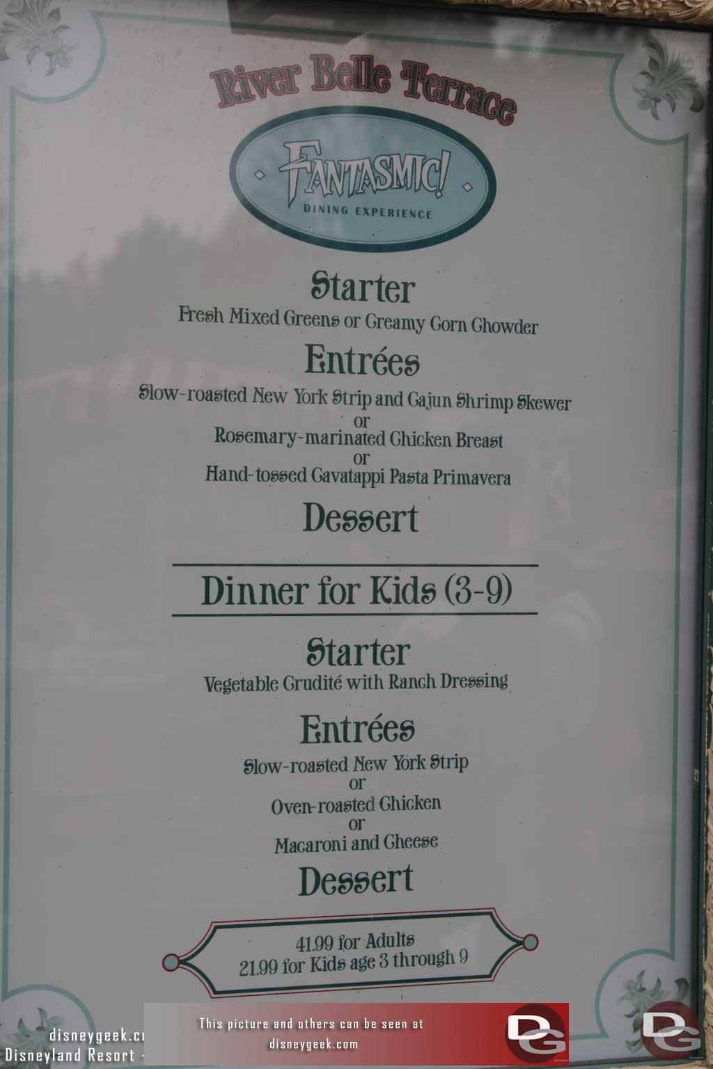 Menu restaurant disneyland 2014 images 28 images menu for Terrace restaurant menu