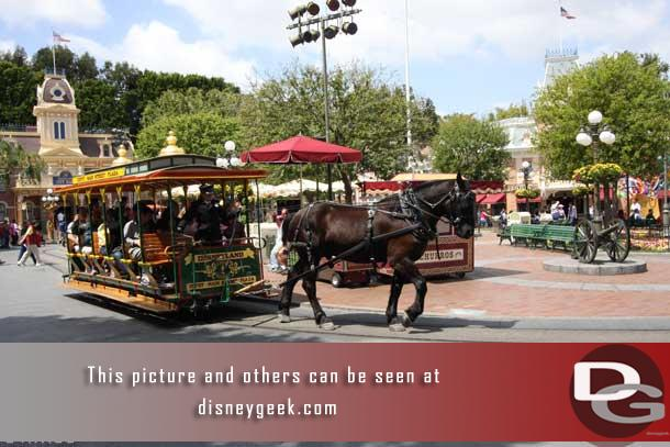 We start off this great spring day on Main Street USA