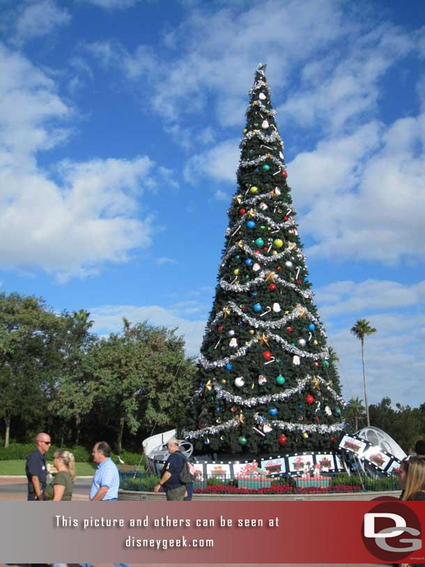 The Christmas out front of the Disney Hollywood Studios