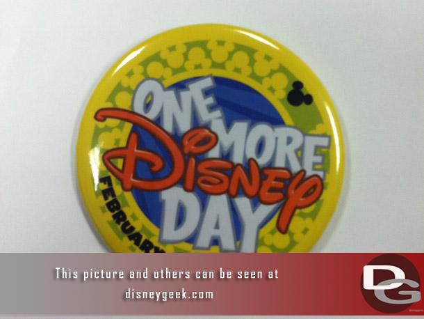 Throughout the day Disney distributed buttons.