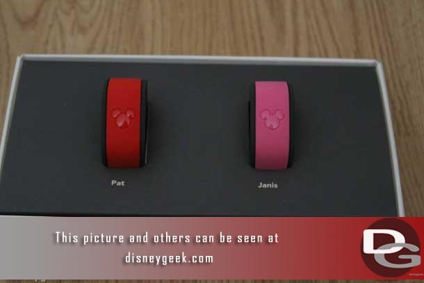 Inside their two MagicBands.