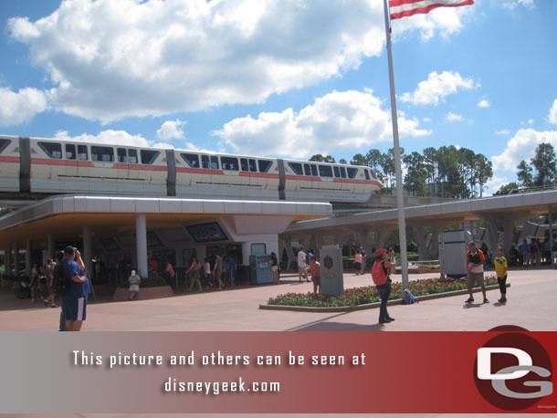 Arriving at EPCOT.