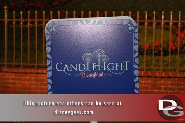 The annual Candlelight Ceremony at Disneyland traditionally has taken place on Main Street USA two nights a year.  In 2012 they expanded to 20 nights.