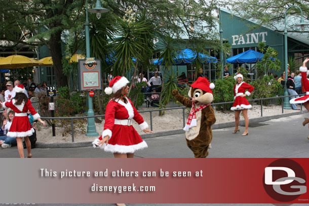 Chip and Dale are out in front walking