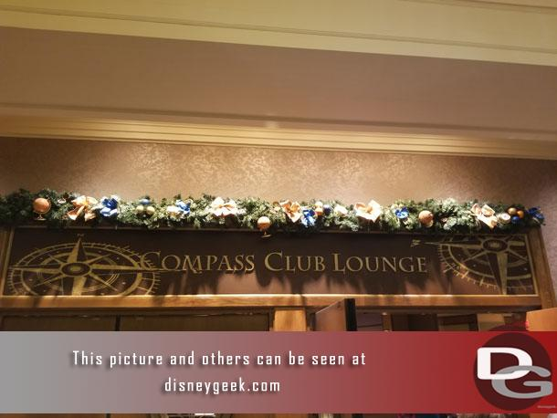 The Compass Club Lounge was on the 1st floor so you had to ride down to reach it.