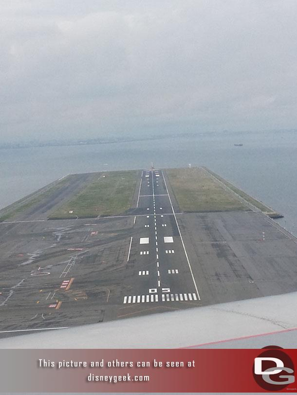Passed over this small runway near touchdown.
