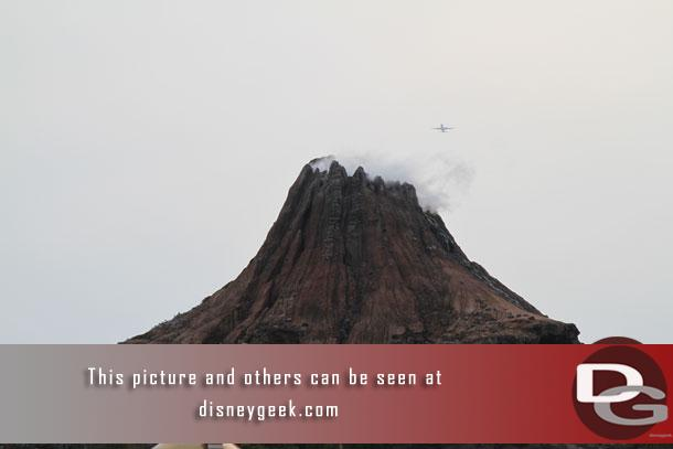 After the show (see Part 2) I set out to explore the park and experience some of the outdoor attractions before the weather turned bad.  Mount Prometheus