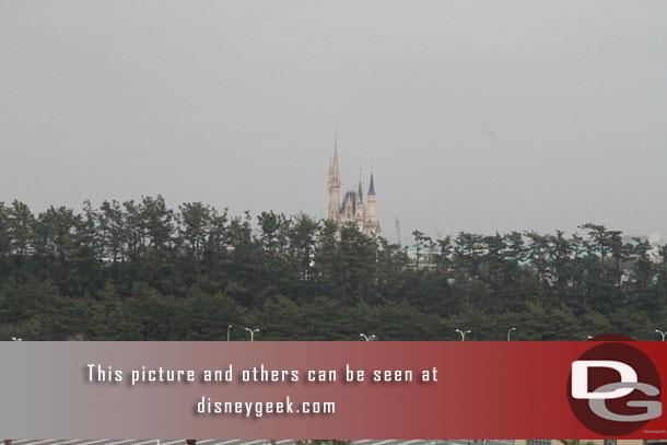 Cinderella Castle in the distance