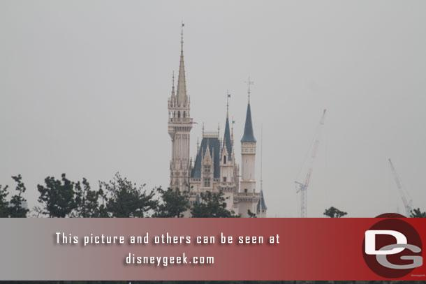 Cinderella Castle this morning.. will be there in a couple hours.  Today is our Disneyland Day.