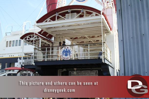 I started off my late afternoon tour of Tokyo DisneySea checking out the SS Columbia in the American Waterfront.