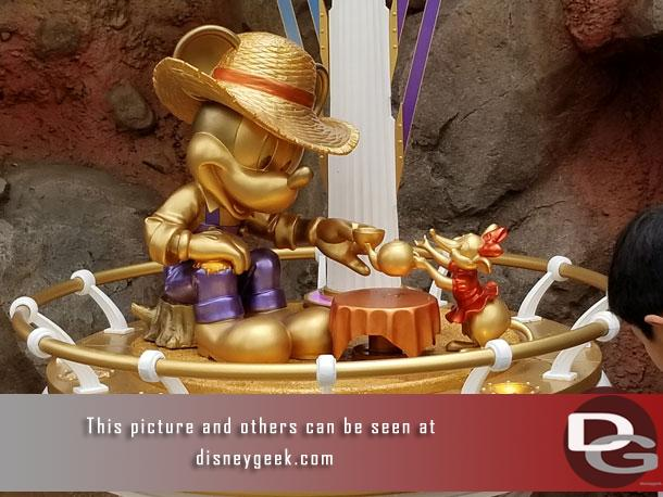 The golden Mickey in Critter Country