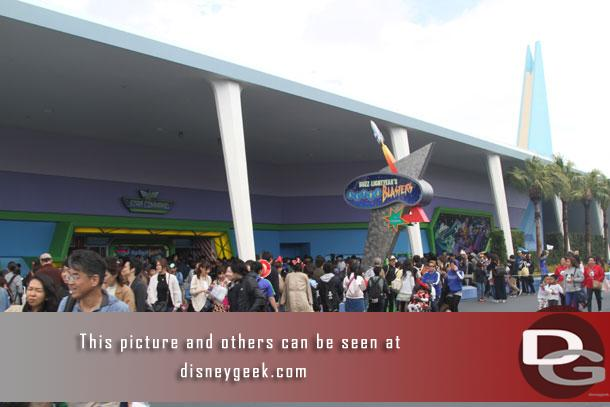 Passing by Buzz Lightyear's Astro Blasters