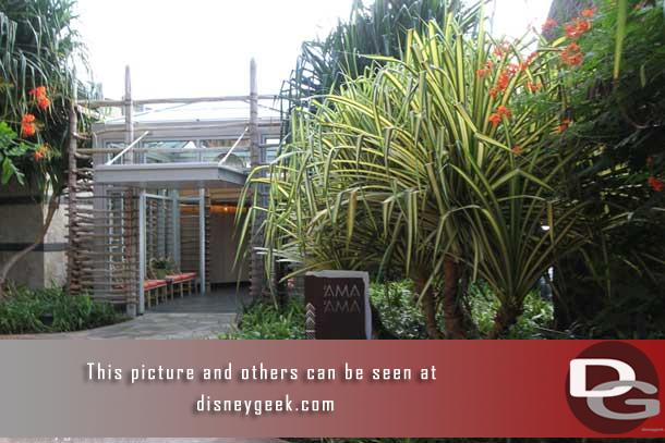 Ama Ama is described by Disney as contemporary Island Cooking.  It is a more upscale dining location than the other choices and is located on the far end of the Waikolohe Valley overlooking the lagoon.