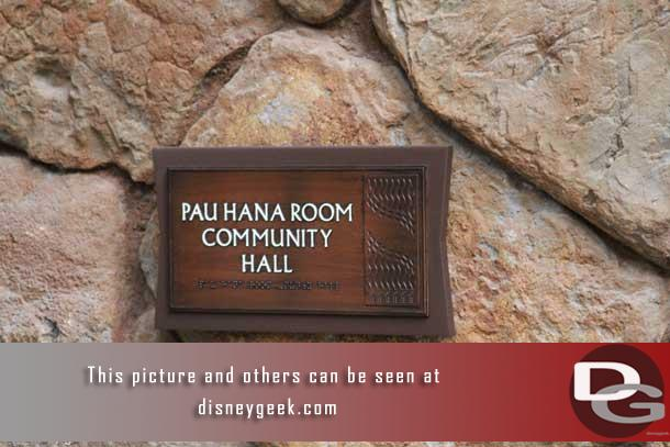 The Pau Hana Room Community Hall is located on the first floor of the Ewa Tower.