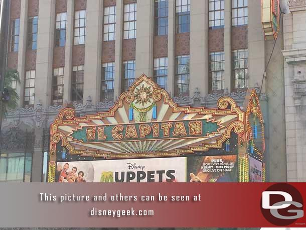 The Muppets on the main marquee