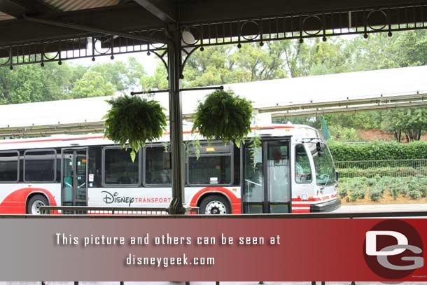 First stop this morning was the Magic Kingdom.  Spotted another of the new buses as I was walking toward the park.
