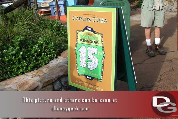 Throughout Discovery Island were guest artists and vendors.  Here is the sign for one (more later).