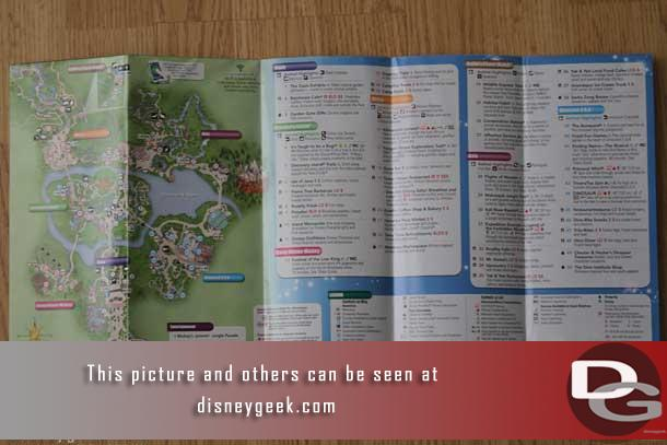 The other side had the current park map.