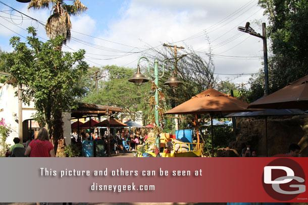 The Harambe Market has opened.  This is toward Asia and features another walkway to Africa and a dining area.