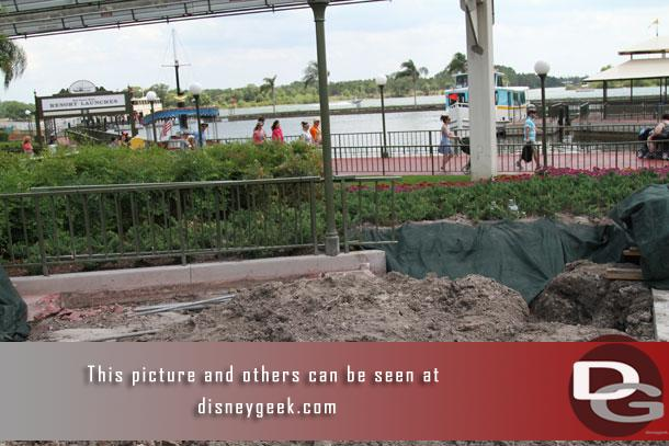 Arriving at the Magic Kingdom.  Hard to tell what is going on just before security they have this small area dug up.