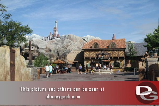 Passing through a quiet portion of Fantasyland.