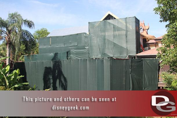 The work from the bridge to Liberty Square.  Rumor is this will be a new Club 33.