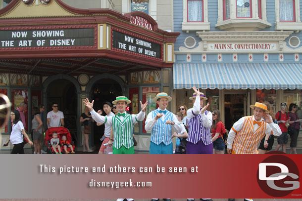 The Dapper Dans were performing.