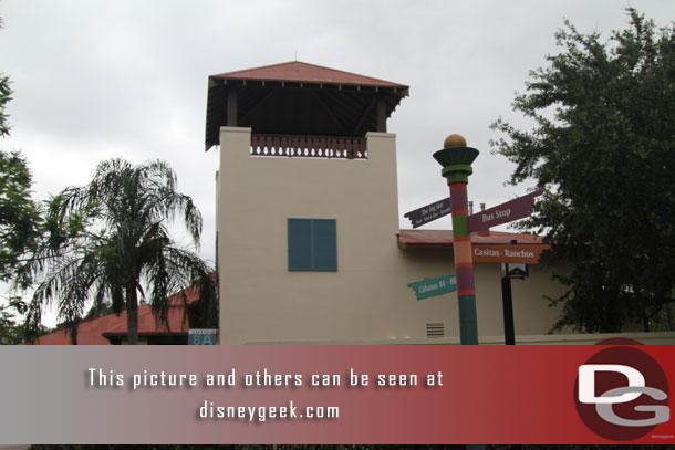 Arrived at Disney's Coronado Springs Resort just before 4pm after waiting out a thunderstorm and then walking to the Magic Kingdom and catching a bus to the resort.