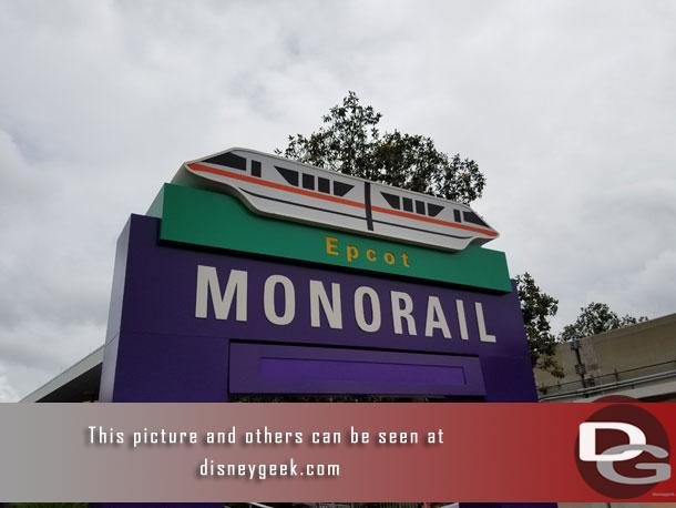Transferring to the Epcot Monorail at the Transportation and Ticket Center.