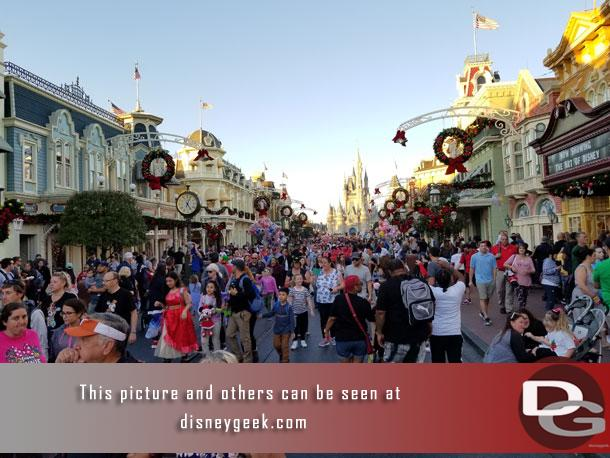 Headed up Main Street USA to get something to eat.